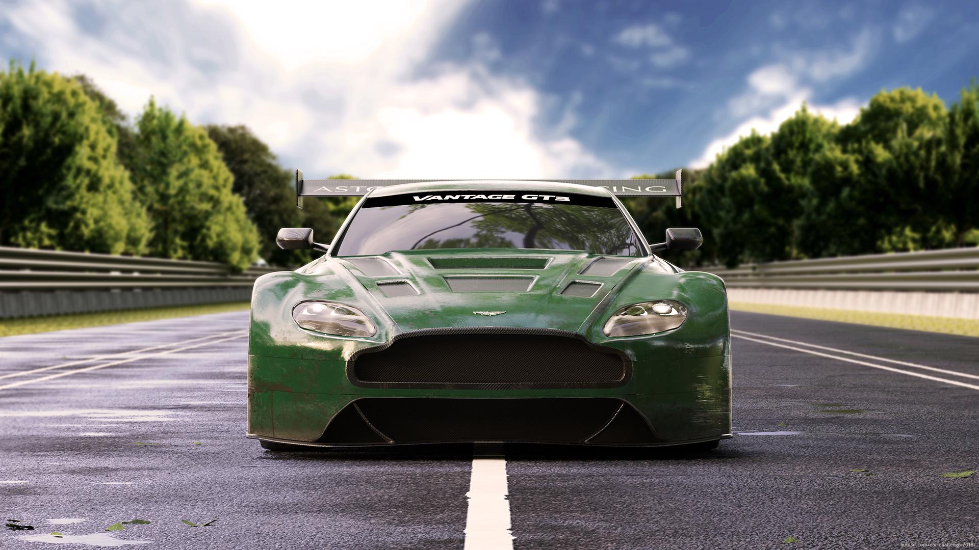 Vantage GT3 3d art