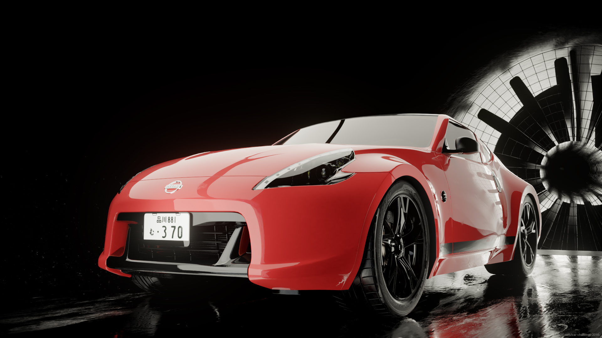 Before the storm - Nissan 370z 3d art