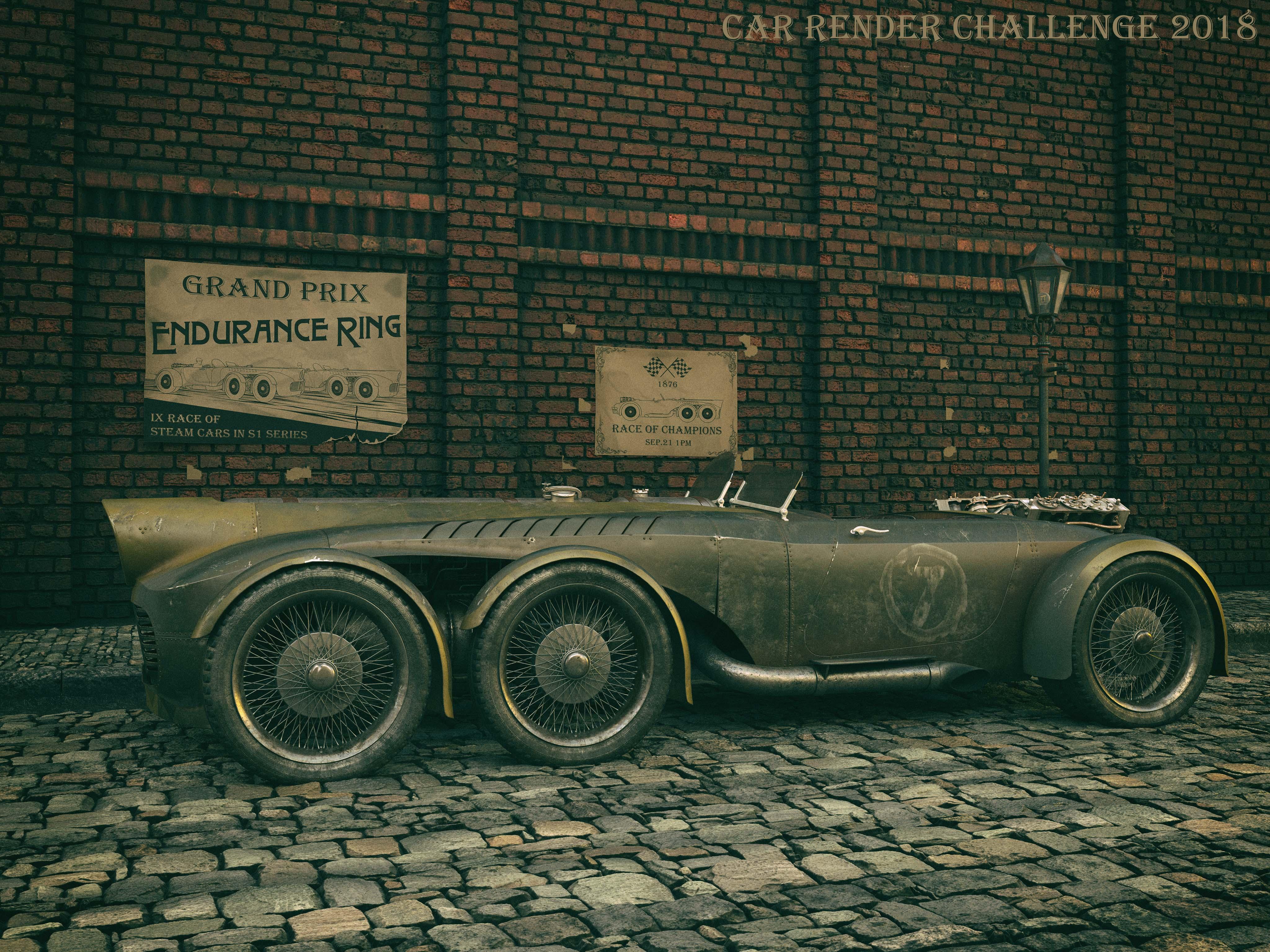 Steam racer 3d art