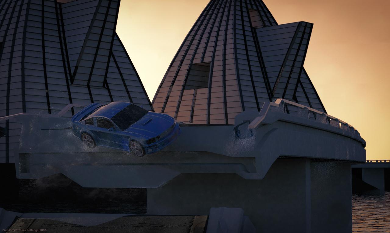 Ford Mustang 3d art