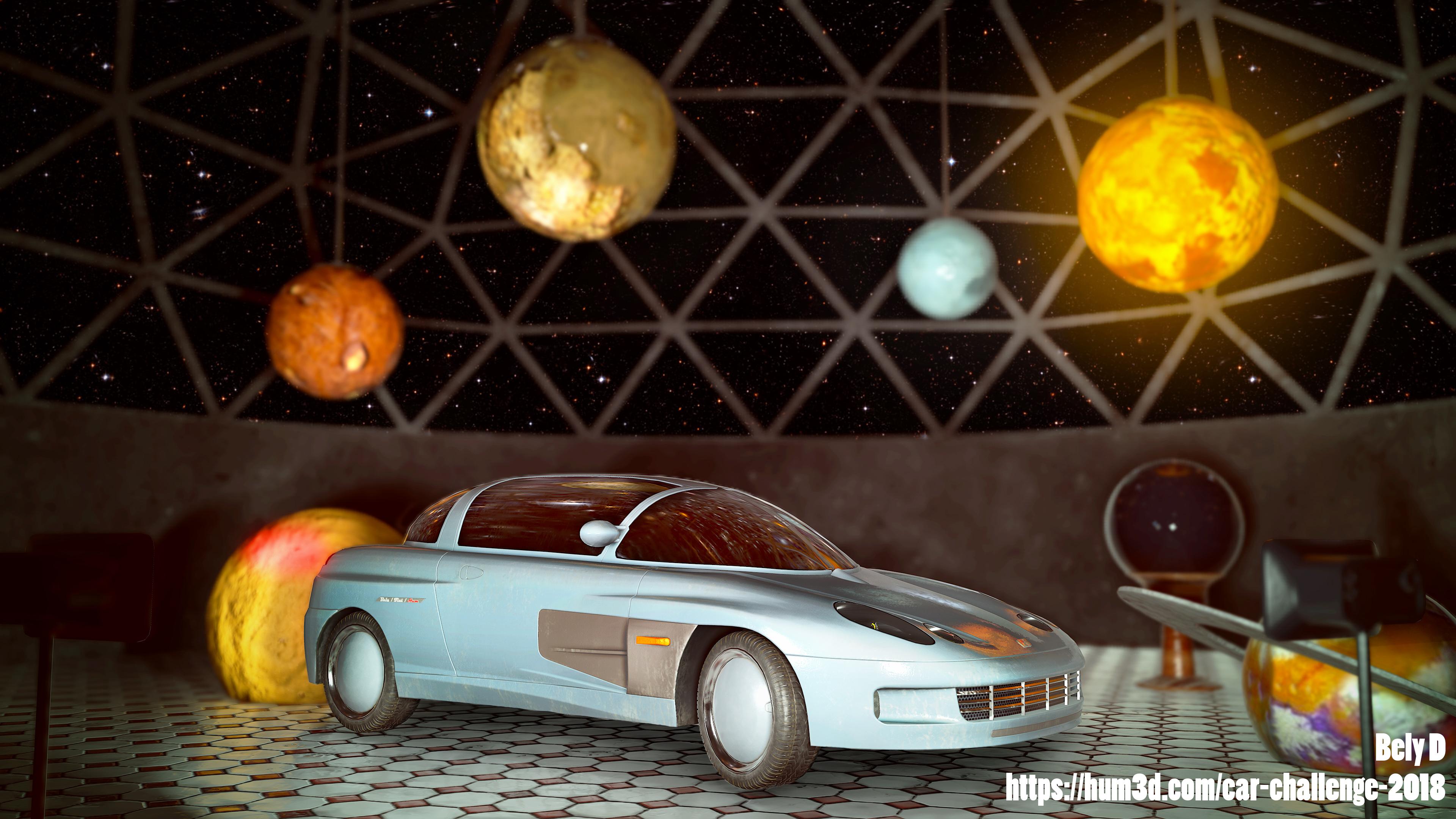 Space dust 3d art