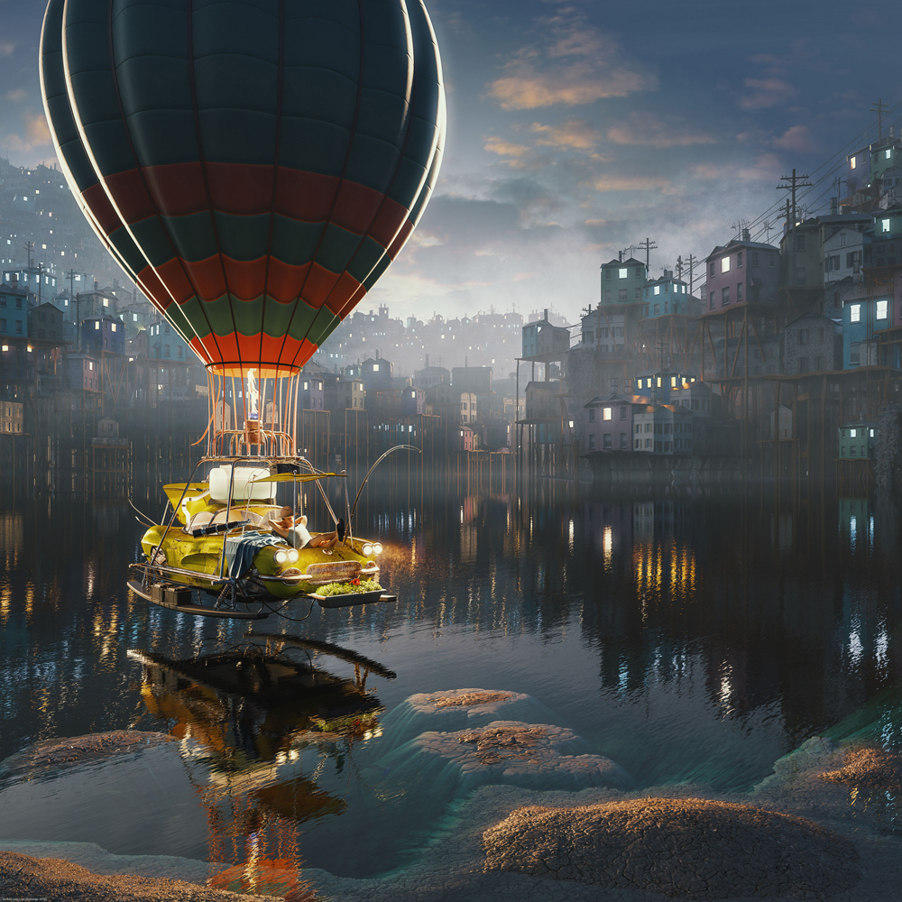 Floating by Rashed Abdullah