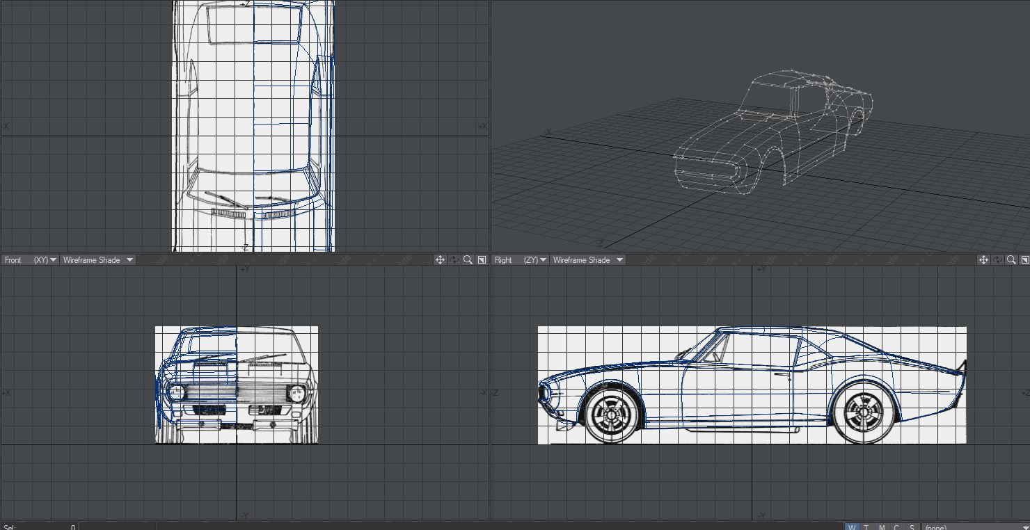 Car was modeled in lightwave