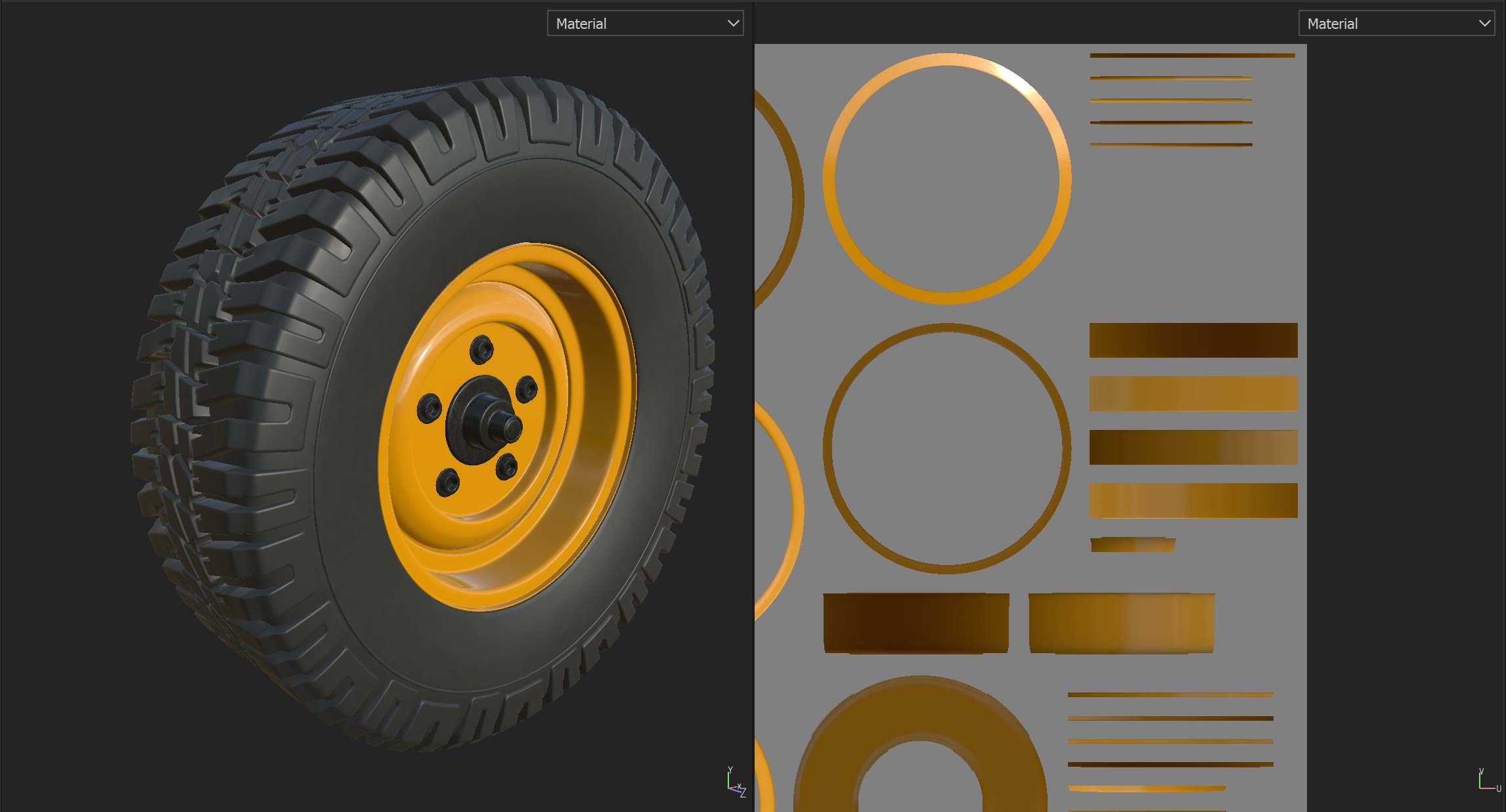 Substance Painter wheel
