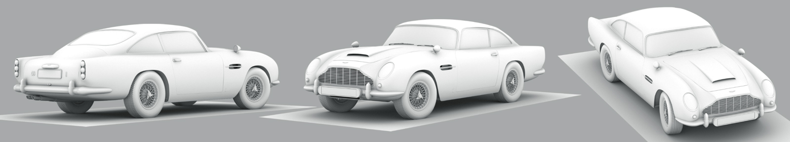 modelling and UV unwrapping of the Aston Martin DB5