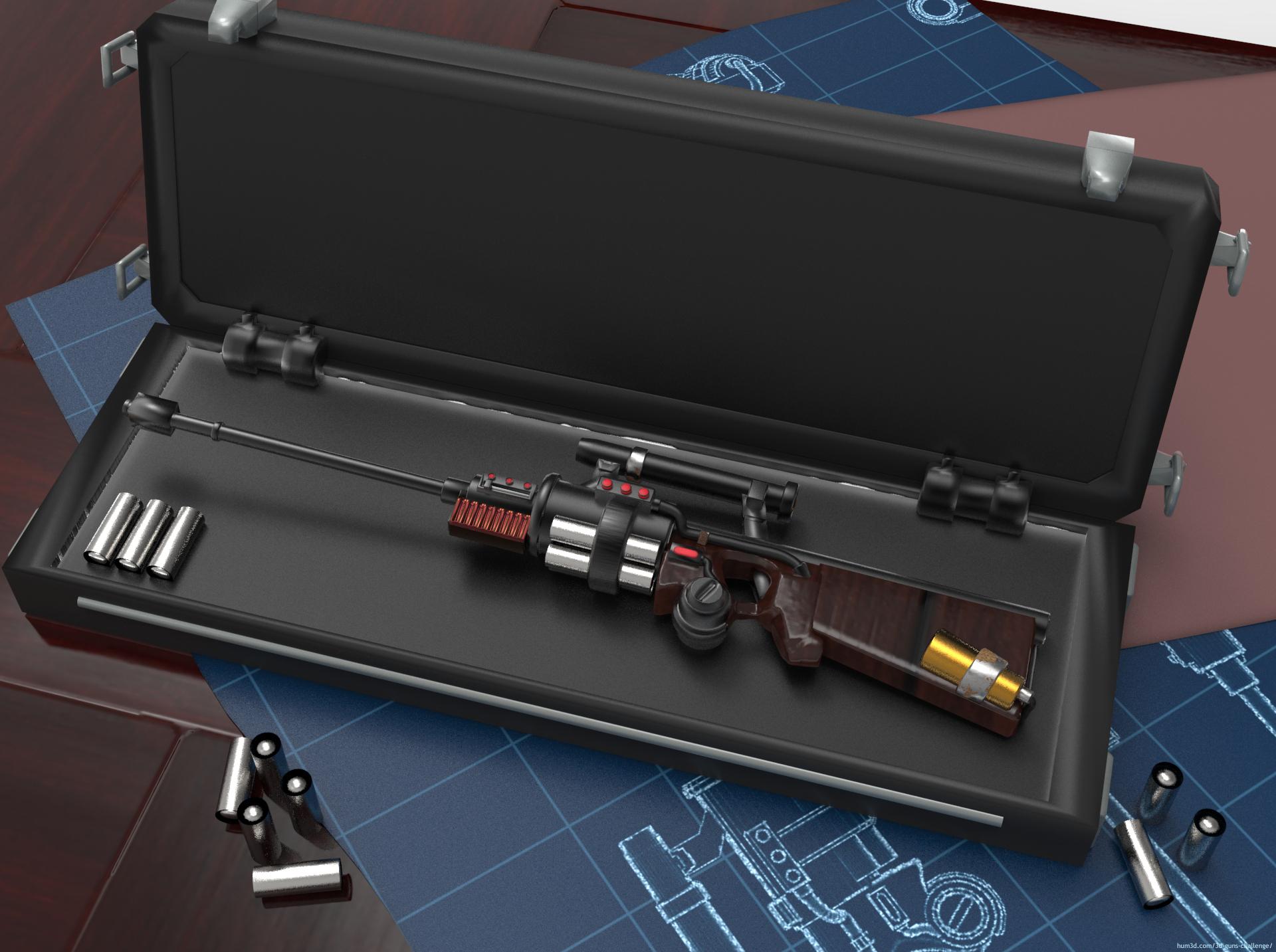 Heat Rifle 3d art