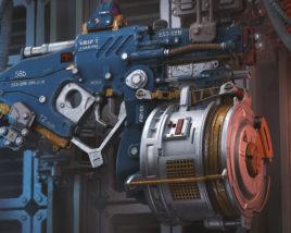 Sci-fi laser gun