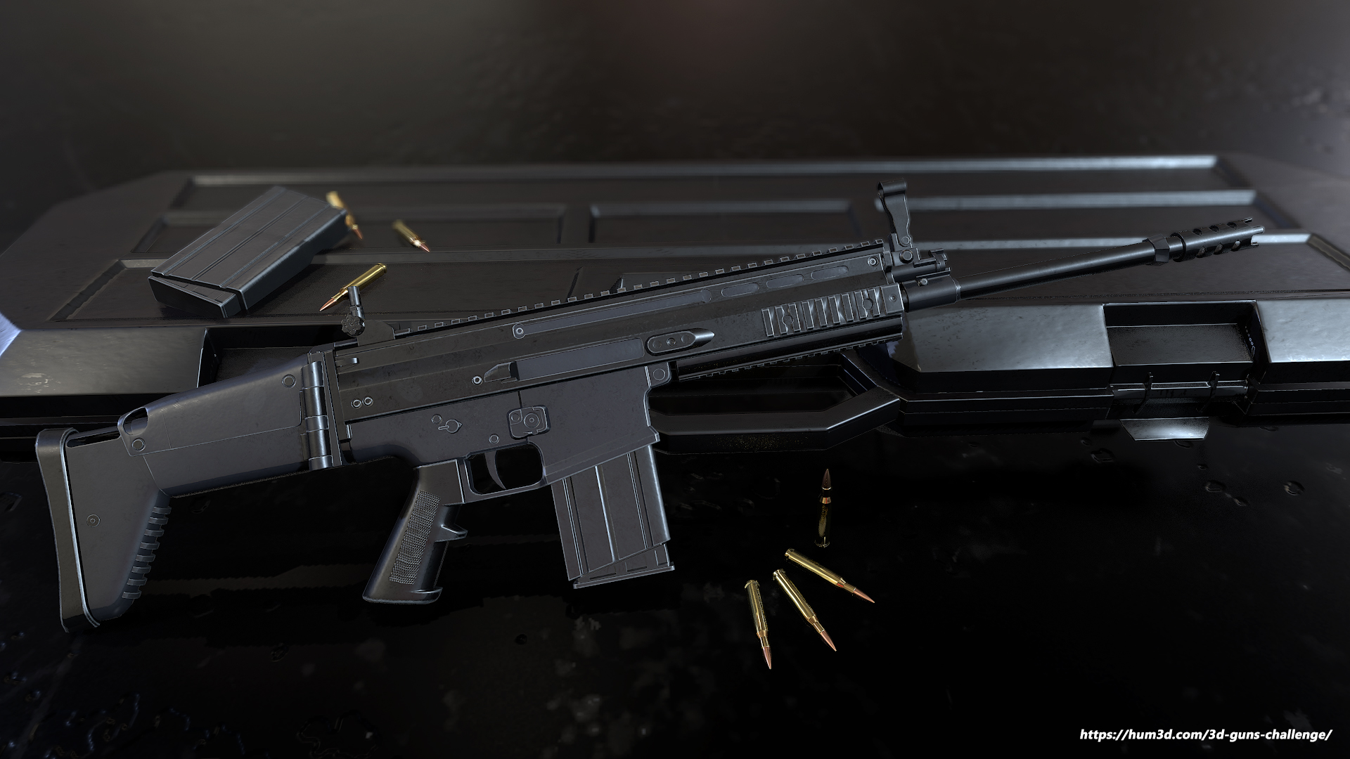 FN SCAR – Battle Rifle 3d art
