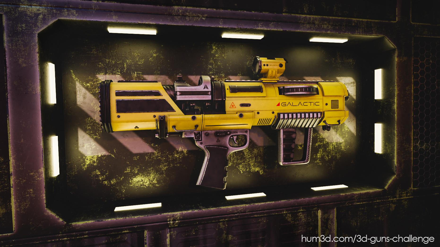 The Galactic Ion Pulse Gun 3d art