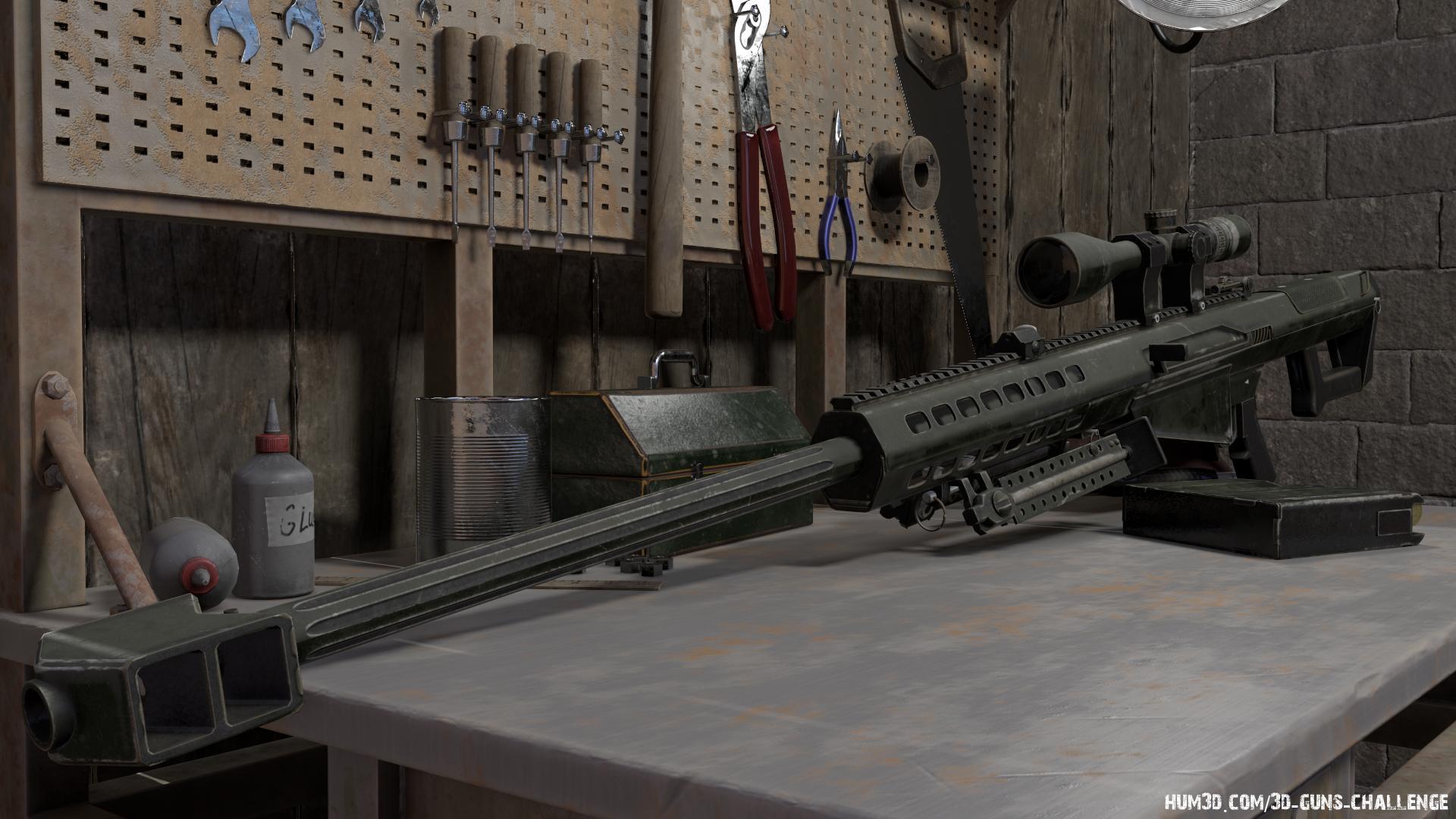 Anti-Materiel Rifle 3d art