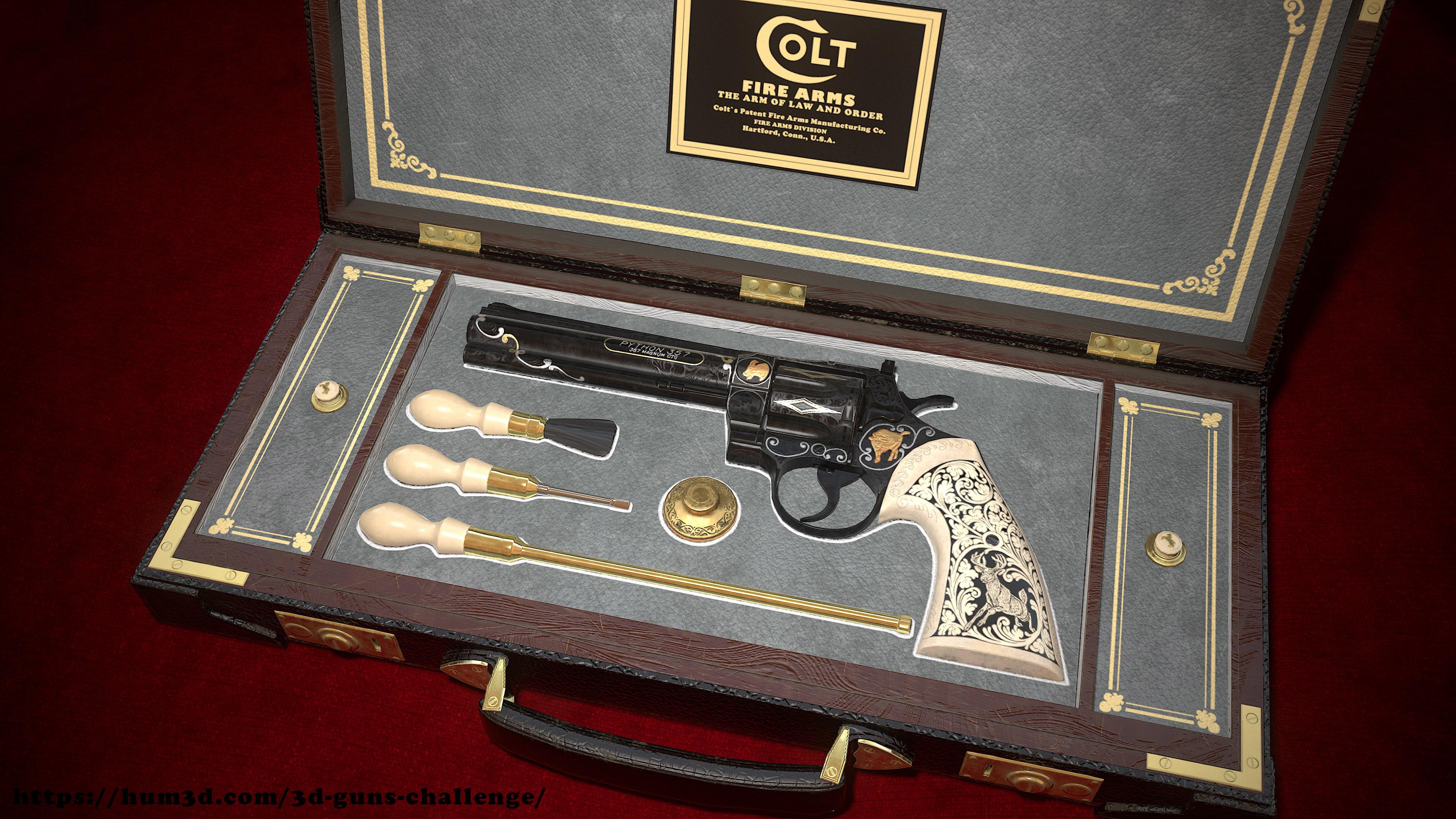 Elvis Revolver Memorabilia 3d art