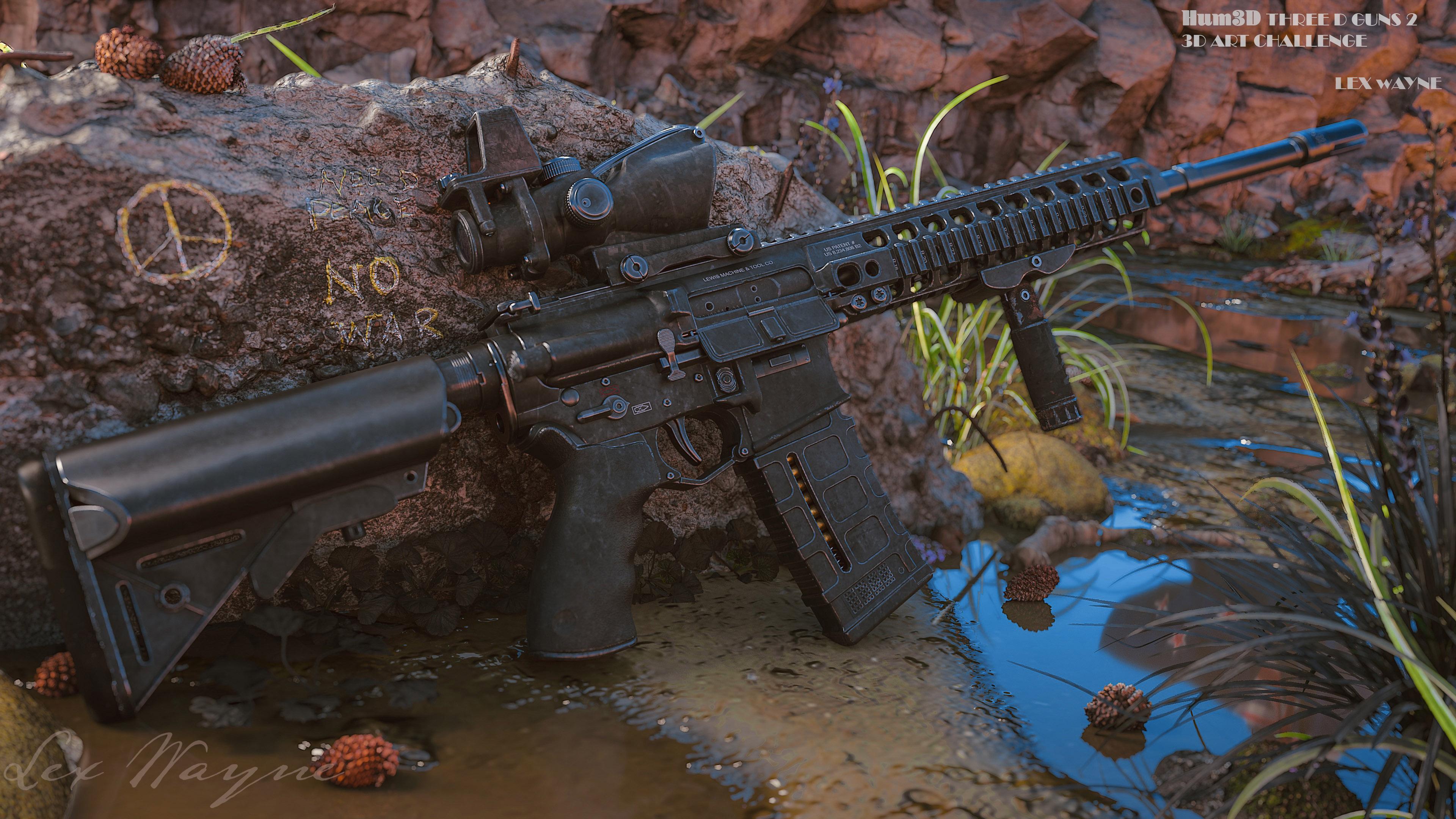 NZ Army Rifle 3d art