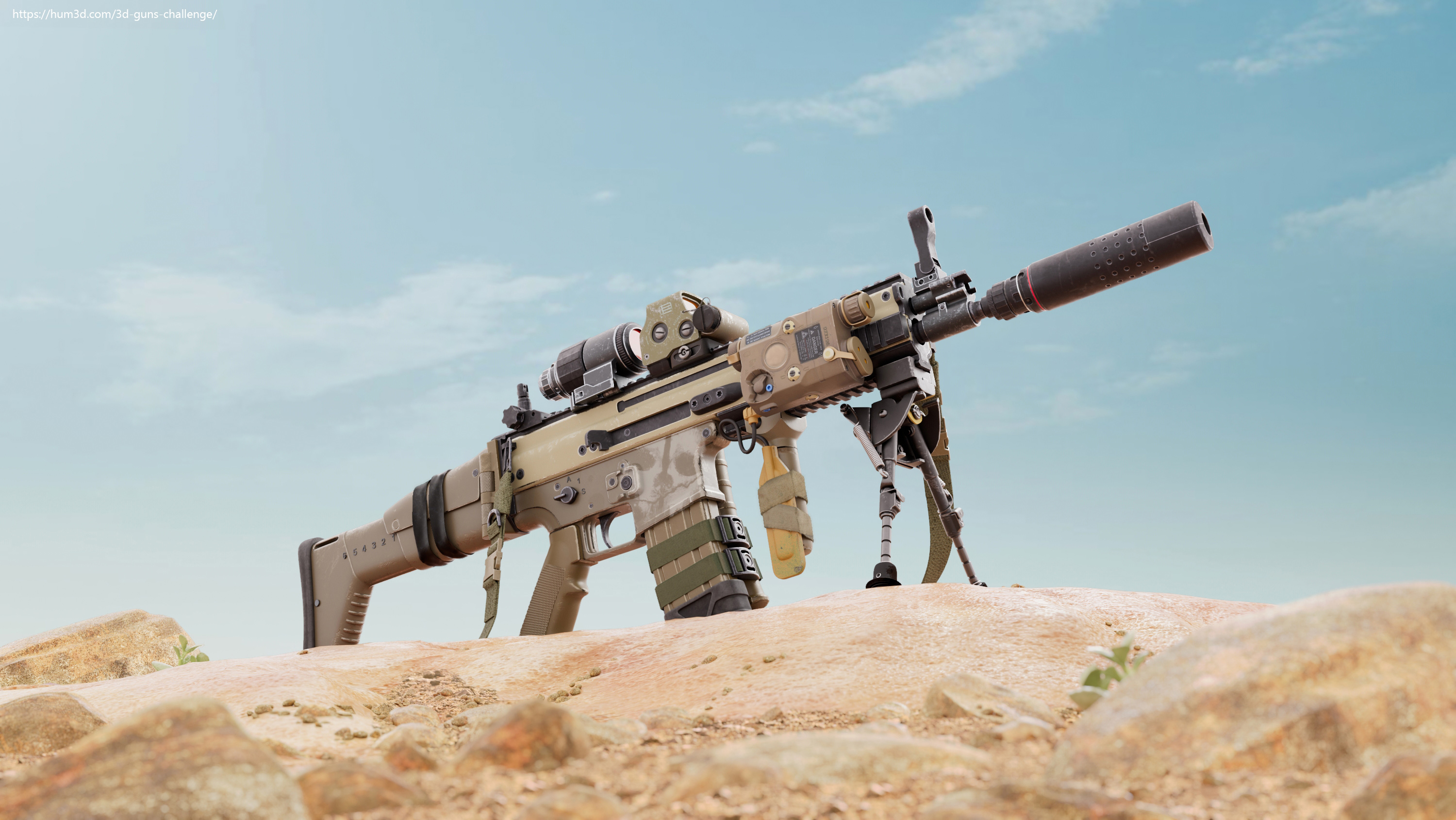 Scar-L – Assault Rifle – aka – Betty 3d art
