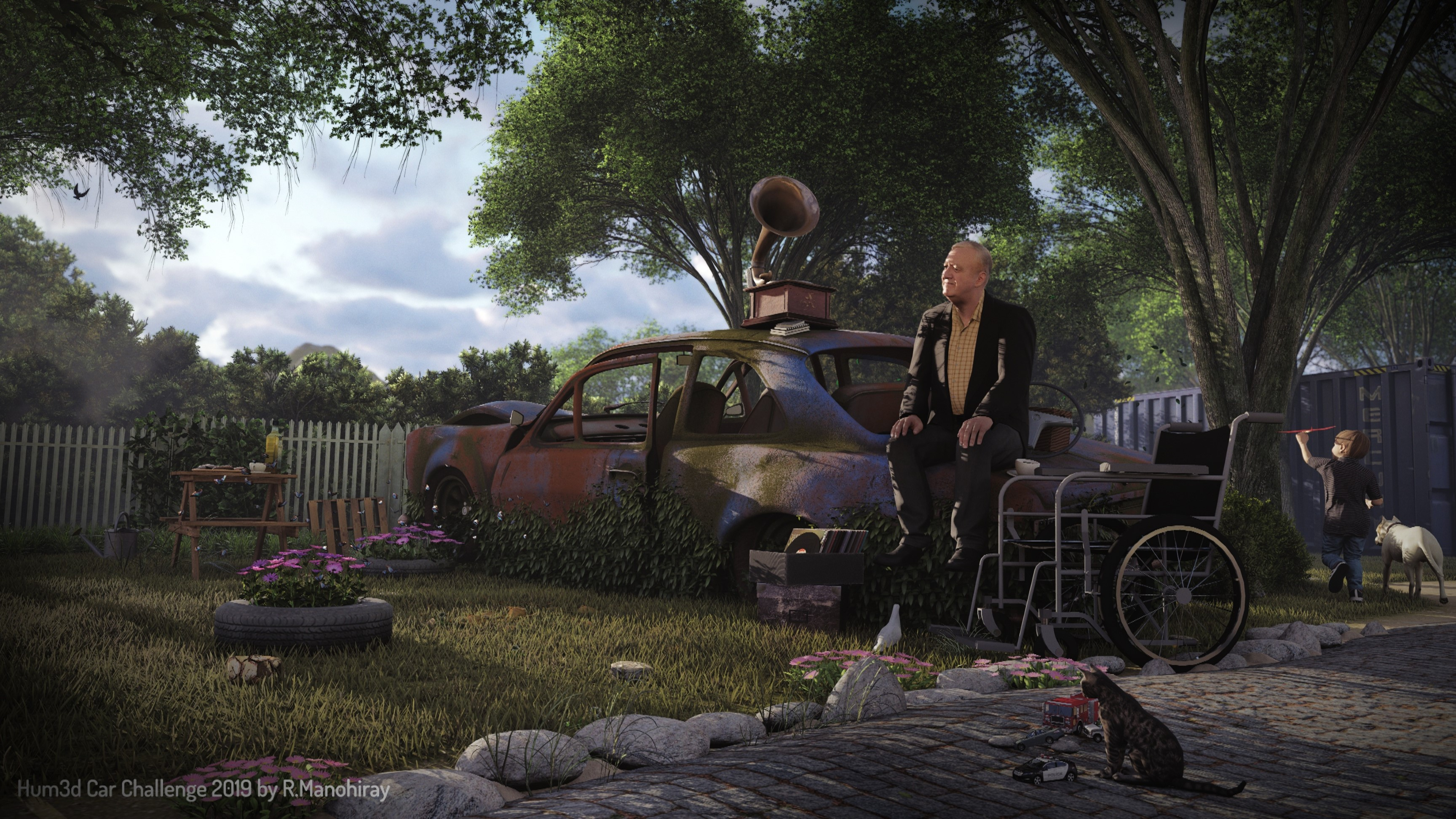 Two Old Friends 3d art