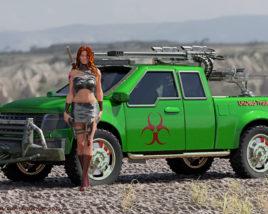 Dystopian Zombie Truck Chic