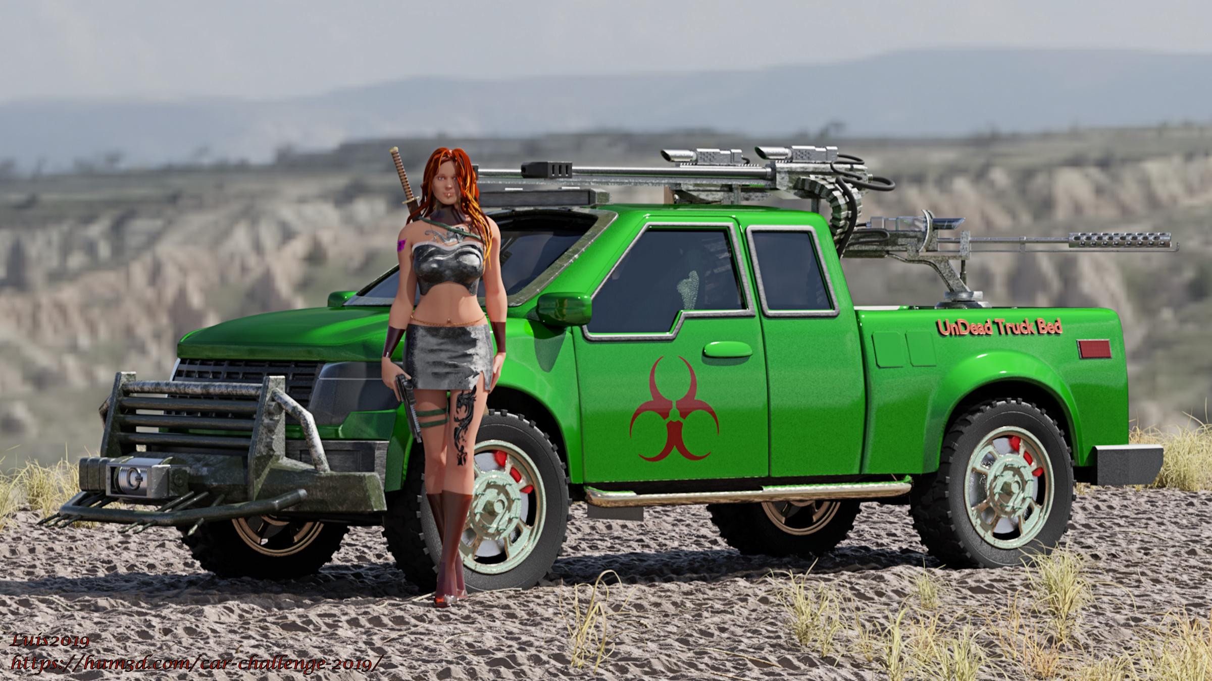 Dystopian Zombie Truck Chic 3d art