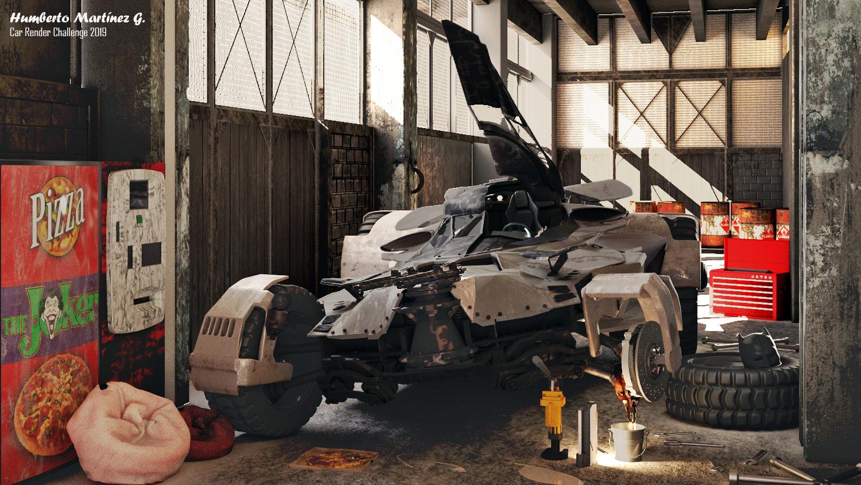 Bat Garage 3d art