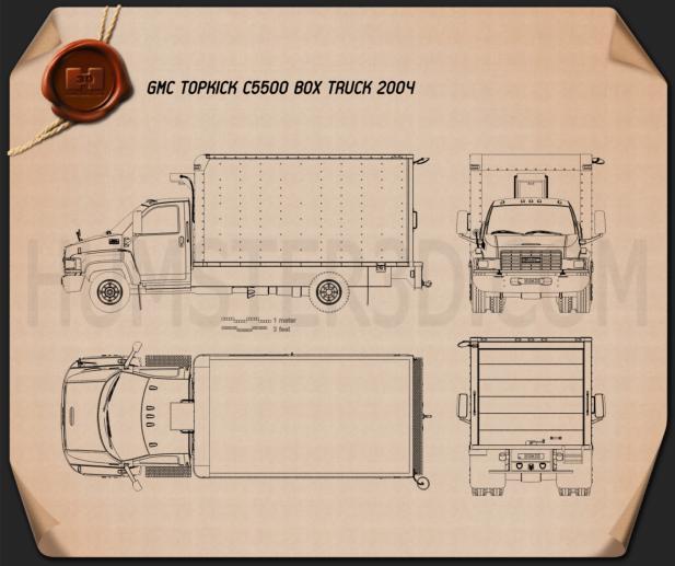 GMC Topkick C5500 Box Truck 2004 Blueprint