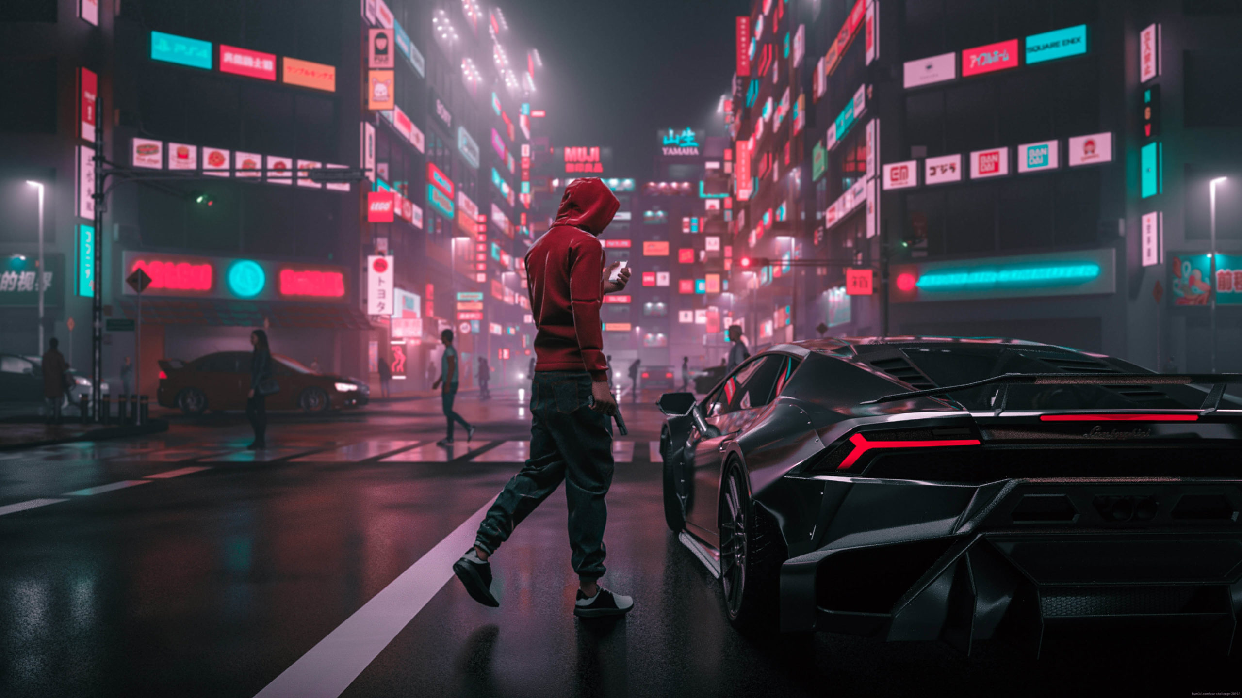 Once Upon a Time In Tokyo 3d art