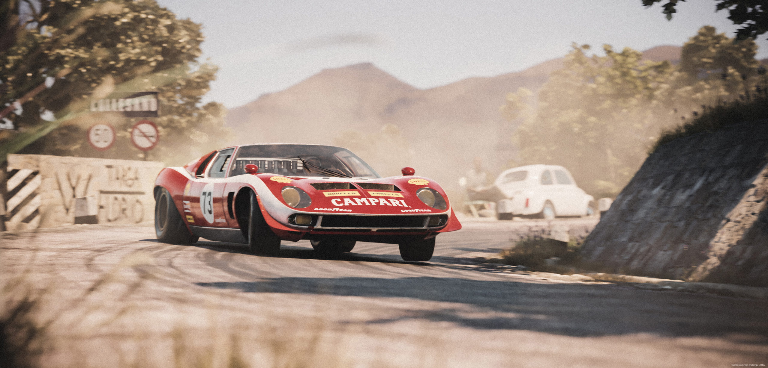 The Miura Jota prototype takes over Targa Florio 3d art