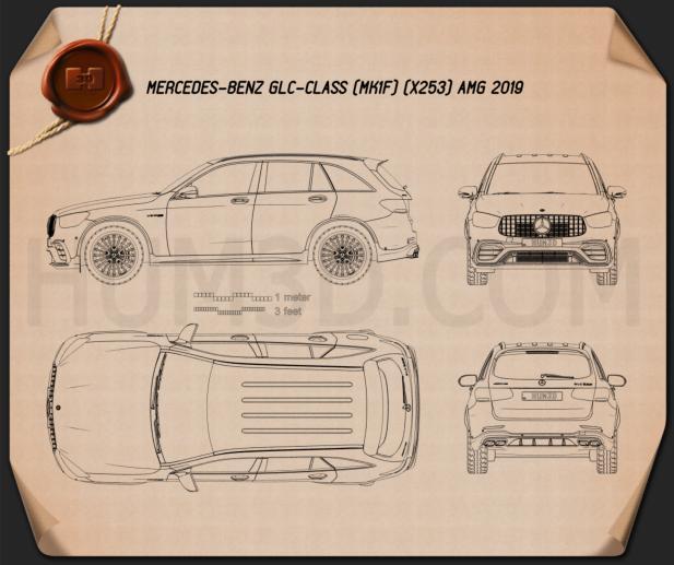 Mercedes-Benz GLC-class (X253) AMG 2019 Blueprint