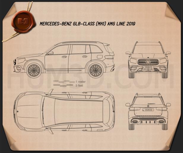 Mercedes-Benz GLB-class AMG-Line 2019 Blueprint