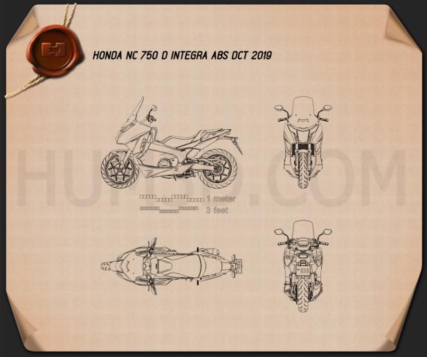 Honda NC750D INTEGRA ABS DCT 2019 Blueprint
