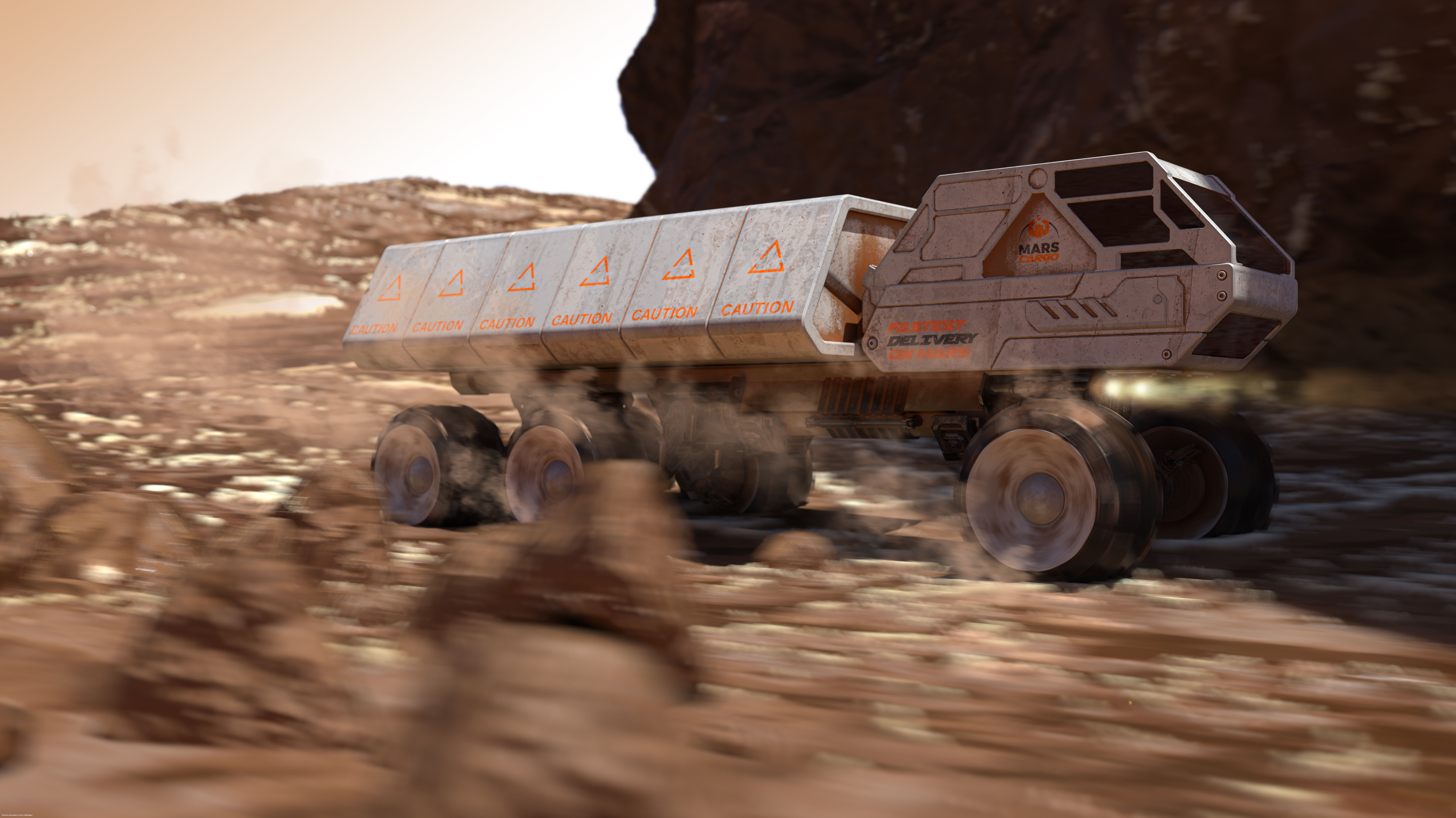 Mars Cargo: the fastest delivery on Mars 3d art