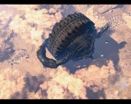 Gigantic Mars colonization vehicle