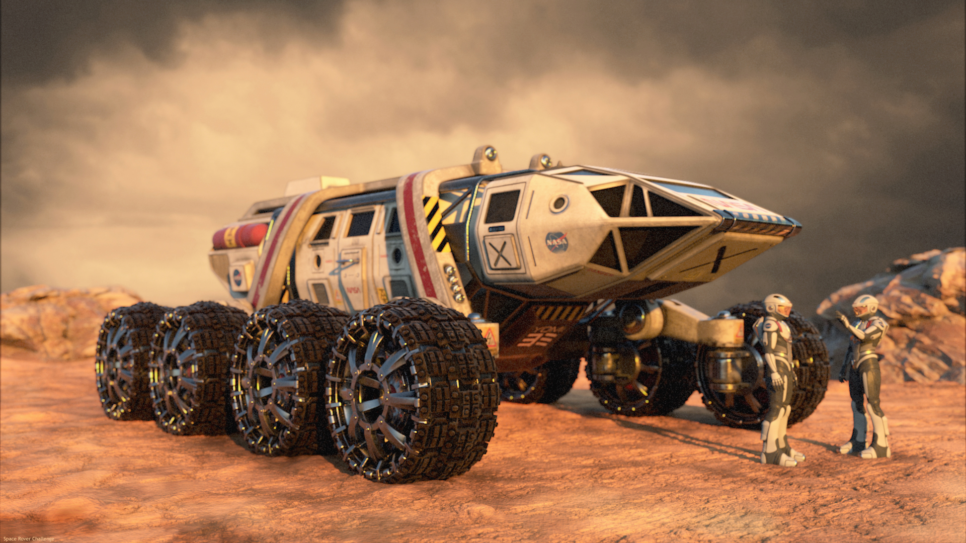 The Frog Space Rover 3d art