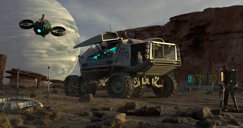 SK23 Spacerover 3d art