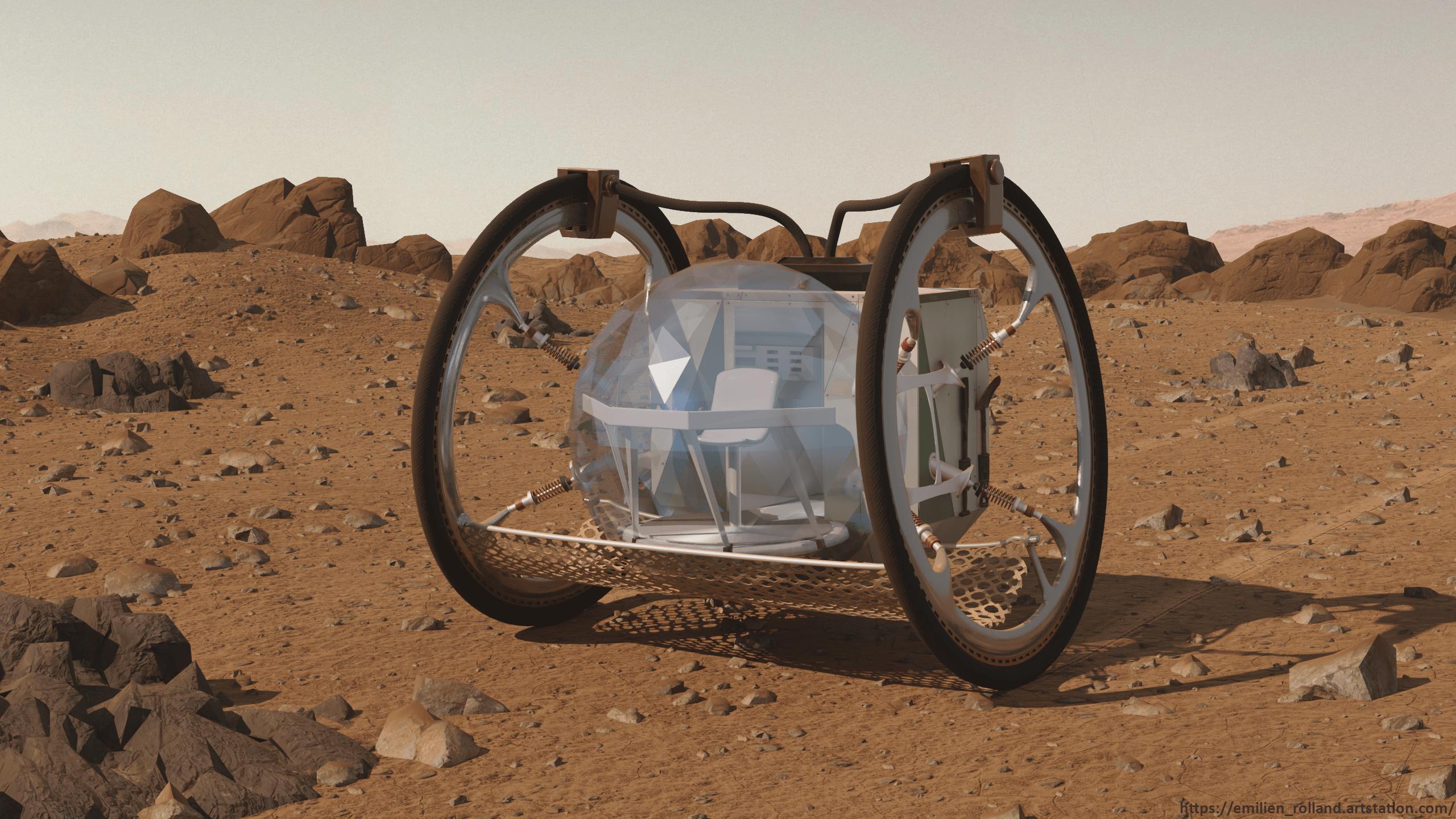 Space Rover Geo-N06 3d art