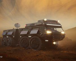 Black-MV Space Rover