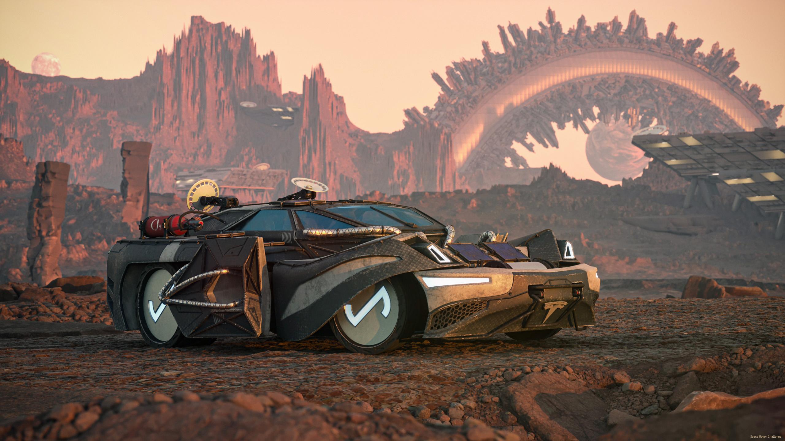Tesla M on Planet Mariiam 3d art