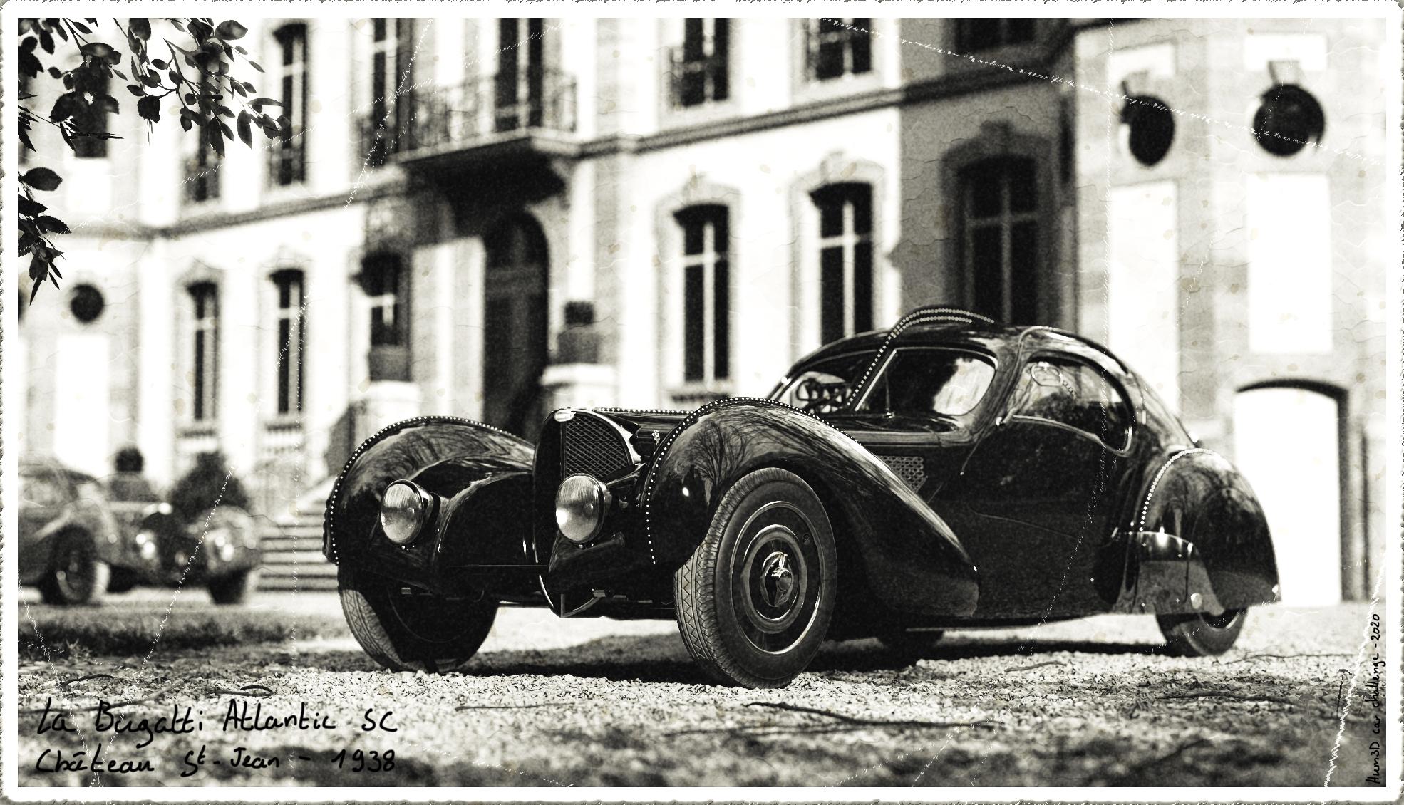 The last picture of 'La voiture noire' 3d art