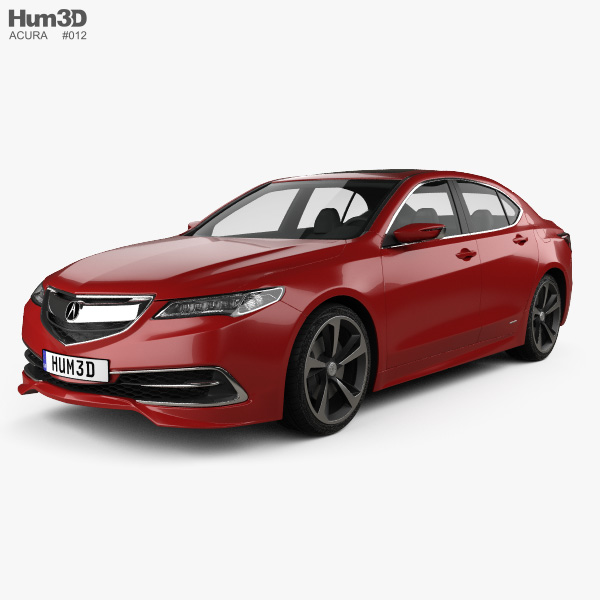 Acura TLX Concept 2015 3D Model