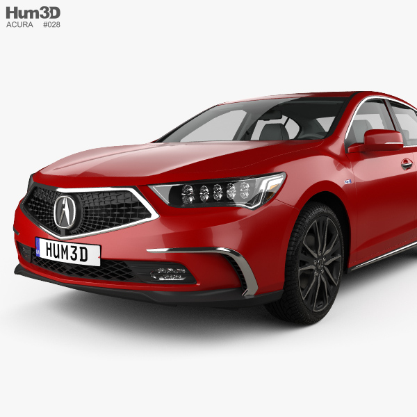 Acura RLX Sport Hybrid SH-AWD With HQ Interior 2017 3D