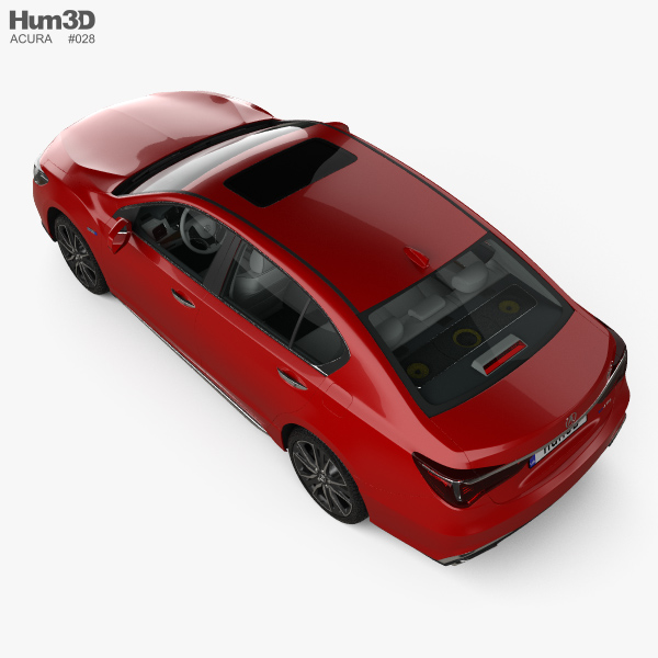Acura Rlx: Acura RLX Sport Hybrid SH-AWD With HQ Interior 2017 3D