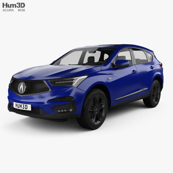 Acura RDX A-spec 2019 3D Model