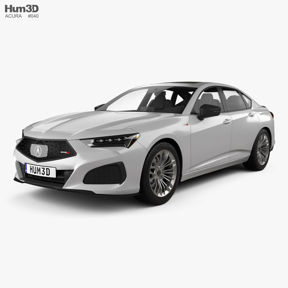 Acura TLX Type S 2020 3D model - Vehicles on Hum3D