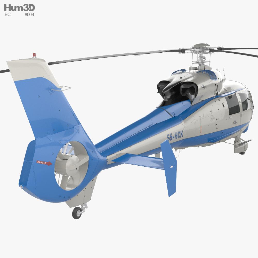Eurocopter SA 365C1 Dauphin 3d model
