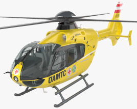 OAMTC Christophorus Emergency H135 with HQ interior 3D model
