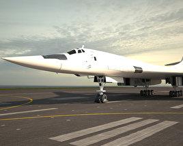 Tupolev Tu-160 3D model