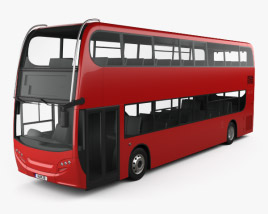 Alexander Dennis Enviro400H Double Decker Bus 2015 3D model