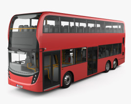 Alexander Dennis Enviro 500 Double Decker Bus with HQ interior 2016 3D model