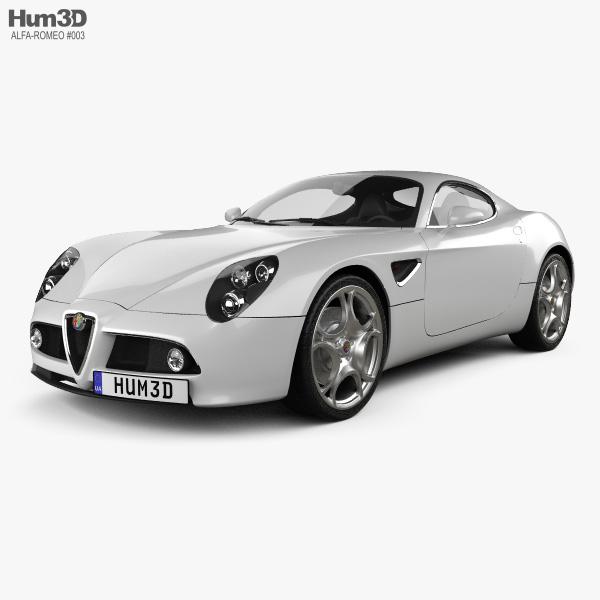 Alfa Romeo 8C Competizione 2007 3D Model