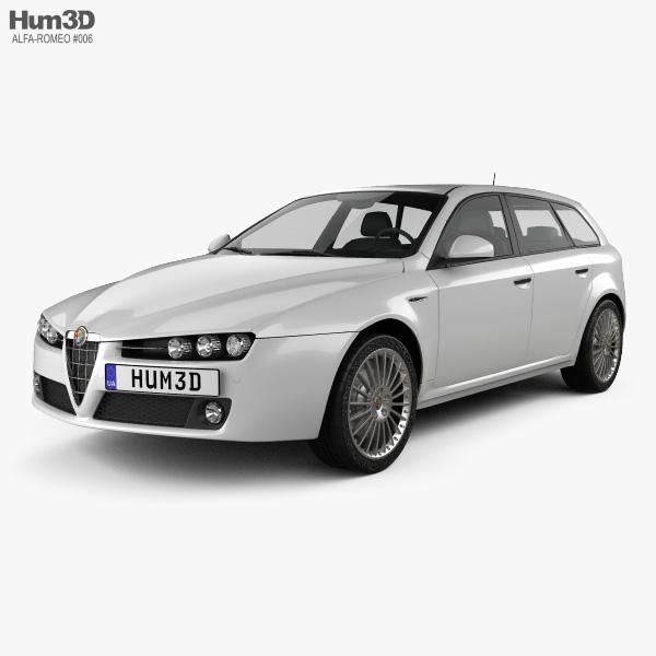 Alfa Romeo 159 Sportwagon 2011 3D Model