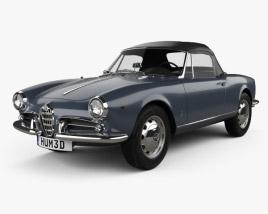 Alfa Romeo Giulietta Spider 1955 3D model