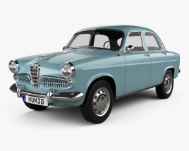 Alfa Romeo Giulietta Berlina 1955 3D model