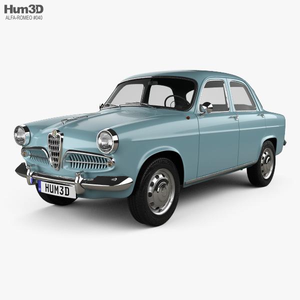 Alfa Romeo Giulietta Berlina 1955 3d Model Hum3d